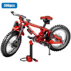 City Creator Mechanical Bicycle Mountain Bike Building Blocks Legoingly Technic Concertible Tandem Bicycles Bricks Toys For Boys - shopbabyitems