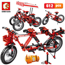 Load image into Gallery viewer, City Creator Mechanical Bicycle Mountain Bike Building Blocks Legoingly Technic Concertible Tandem Bicycles Bricks Toys For Boys - shopbabyitems