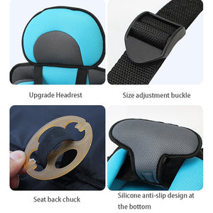 Convertible Toddler Seat Mat 3-12 Years Old Portable&Comfortable Baby Seat Cushion Stroller Sleeping Belt Kids Safety Mat Mattre - shopbabyitems