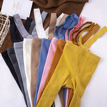 Load image into Gallery viewer, Cotton Baby Pantyhose Newborn Baby Pants High Waist Cross Straped Baby Leggings Baby Boys Girls Pants - shopbabyitems