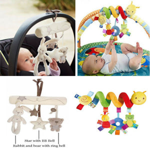 Cute Activity Spiral Crib Stroller Car Seat Travel Hanging Toys Baby Music Rattles Toy Accessories - shopbabyitems