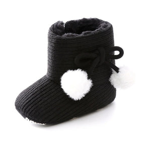 Cute Autumn Winter Infants  Shoes Baby Girl Boy Polka Dot Knitting Boots Casual Sneakers Non-slip Soft Soled Walking Shoes - shopbabyitems