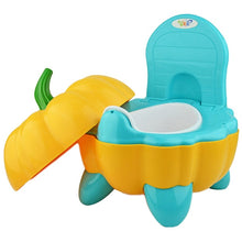 Load image into Gallery viewer, Cute Baby Chair Cartoon Folding Potty Toddler Portable Training Plastic Toilet Seat Pumpkin - shopbabyitems