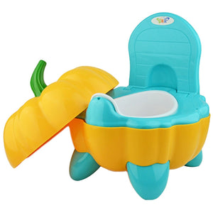 Cute Baby Chair Cartoon Folding Potty Toddler Portable Training Plastic Toilet Seat Pumpkin - shopbabyitems