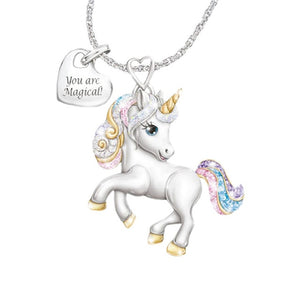 Cute Cartoon Rainbow Unicorn Necklace Women Girls Fashion Animal Bird Bee Necklaces 2020 New Jewelry Gifts For Kids Children - shopbabyitems