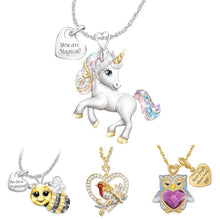 Load image into Gallery viewer, Cute Cartoon Rainbow Unicorn Necklace Women Girls Fashion Animal Bird Bee Necklaces 2020 New Jewelry Gifts For Kids Children - shopbabyitems