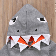 Load image into Gallery viewer, Cute Newborn Toddler Kids Boy Girl Shark Hooded Clothes Autumn - shopbabyitems