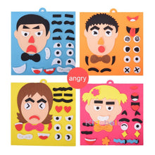 Load image into Gallery viewer, DIY Toys Emotion Change Puzzle Toys 30CM*30CM Creative Facial Expression Kids Educational Toys - shopbabyitems