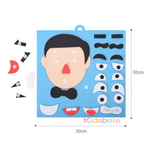 DIY Toys Emotion Change Puzzle Toys 30CM*30CM Creative Facial Expression Kids Educational Toys - shopbabyitems