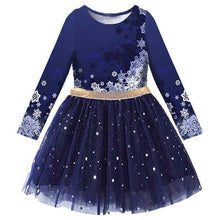 Load image into Gallery viewer, Princess Kids Dress Heart Sequined Girls Dress Winter Long Sleeve Children Clothing Tutu Flare Sleeve Kids Party Dresses - shopbabyitems