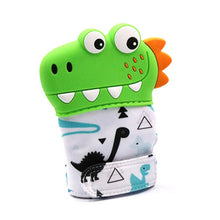 Load image into Gallery viewer, Dinosaur Cartoon Teething Gloves Finger Baby baby teether Mittens Silicone toy - shopbabyitems