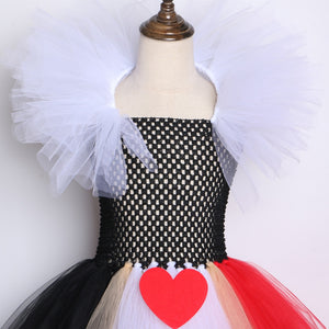 Dress Queen of Hearts black and red, Alice's carnival costume in Halloween - shopbabyitems