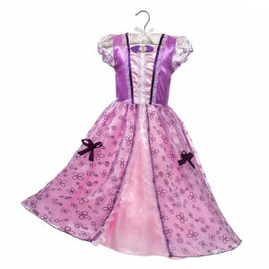 Dressy Girls Princesses Dress up Snow Queen Anna Belle Snow White Sleeping Beauty Costume Kids Fancy Unicorn Evil Queen Minnie - shopbabyitems