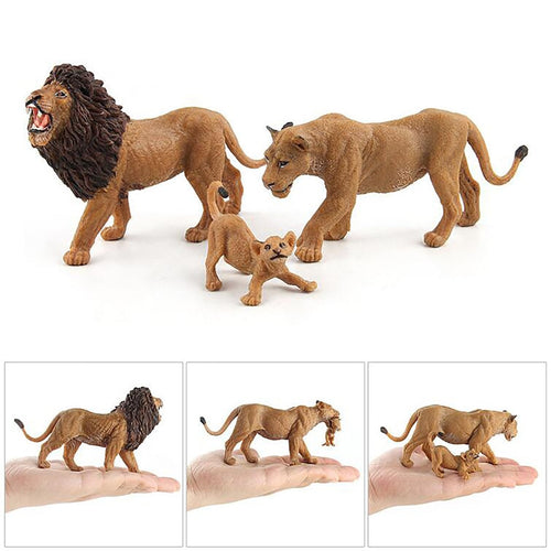 Educational Science Lion Animal Model Ornament Figurine Toy For Kids Gift - shopbabyitems