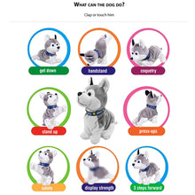Load image into Gallery viewer, Electronic Robot Dog Sound Control Kids Plush Toy Sound Control Interactive Bark Stand Walk Electronic Toys Dog - shopbabyitems