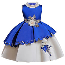 Load image into Gallery viewer, Embroidery Silk Princess Dress for baby girl Flower Elegant Girls dresses Winter Party christmas dress kids dresses for girls 10 - shopbabyitems