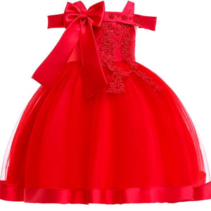 Embroidery Silk Princess Dress for baby girl Flower Elegant Girls dresses Winter Party christmas dress kids dresses for girls 10 - shopbabyitems