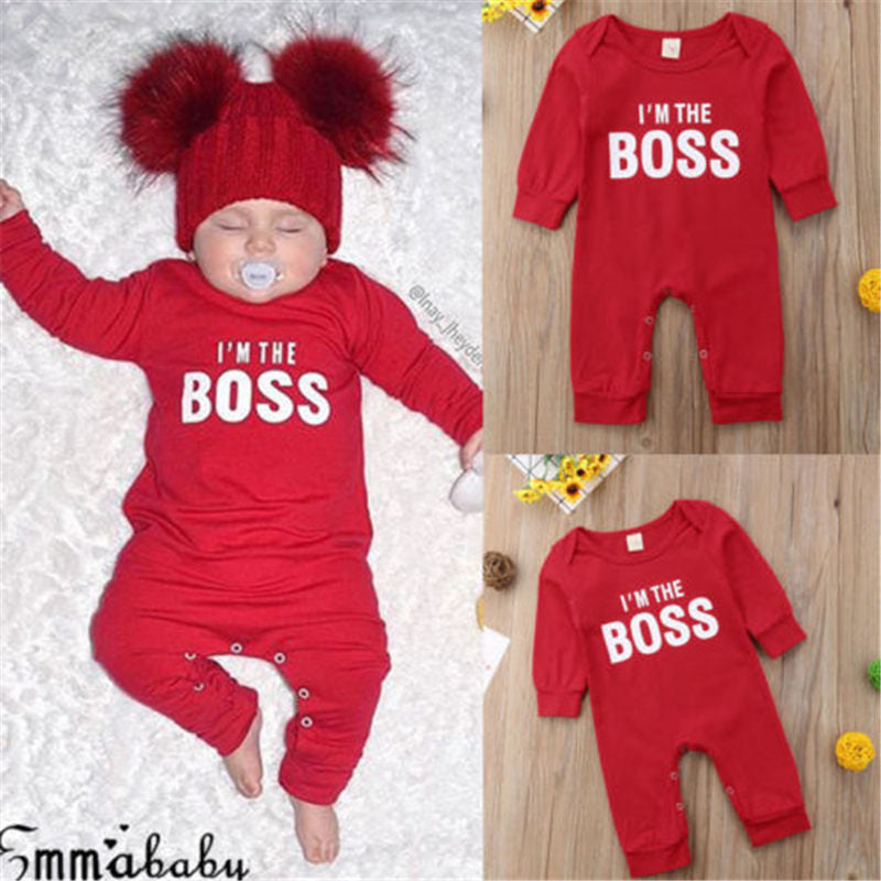 I'm the BOSS Romper Outfits Christmas Clothing Gifts - shopbabyitems
