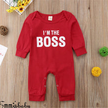 Load image into Gallery viewer, I'm the BOSS Romper Outfits Christmas Clothing Gifts - shopbabyitems