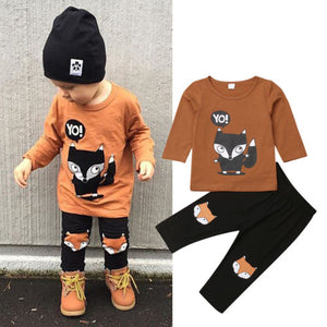 New Arrivels Cotton 2pcs Toddler Baby Boy T-shirt Top+Pants Trousers Outfits Summer Kids Clothes - shopbabyitems