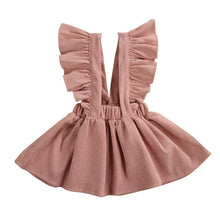 Load image into Gallery viewer, Winter Toddler Baby Girl Ruffles Sleeveless Fashion Corduroy Princess Dress Outfits - shopbabyitems