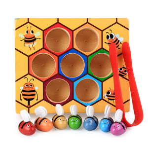 Logwood baby wooden Novelty & Gag Toys Beehive game learning Education toy - shopbabyitems