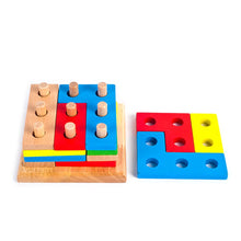 Load image into Gallery viewer, Wooden Montessori Building Blocks Column Shapes Stacking Toys - shopbabyitems