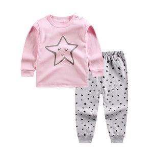 Pink bebes baby cotton suits sets children's clothing set - shopbabyitems