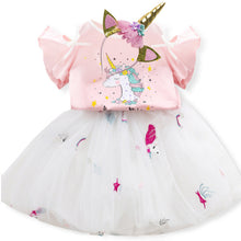 Load image into Gallery viewer, Fancy Children Girls Unicorn Dress Rainbow Princess Kids Tutu Birthday Party Dress For Girls Christmas Costume 3 4 5 6 7 8 Years - shopbabyitems