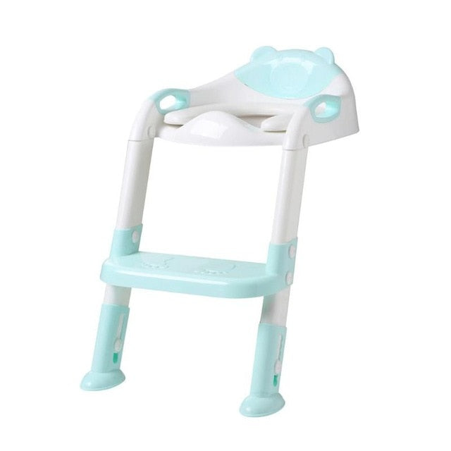 Folding Baby Potty Infant Kids Toilet Training Seat with Adjustable Ladder Portable Urinal Potty Training Seats for Children - shopbabyitems