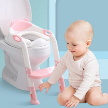 Load image into Gallery viewer, Folding Baby Potty Infant Kids Toilet Training Seat with Adjustable Ladder Portable Urinal Potty Training Seats for Children - shopbabyitems