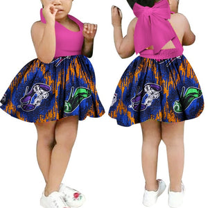 News Dashiki Floral Print African Dresses for Women Kids African Clothes - shopbabyitems