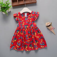Load image into Gallery viewer, Summer New Girl Floral Dress Baby Cotton Floral Princess Dress Dresses - shopbabyitems