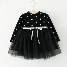 Load image into Gallery viewer, Girls Dress Autumn New Dots Stitching Net Yarn Princess Dress Long Sleeve Baby Girls Dress Children Clothes Girls Clothes - shopbabyitems