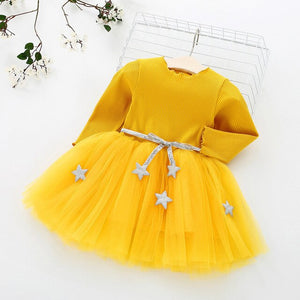 Fashion Children's Clothing Lace Princess Party Fluffy Cake Smash Dress Kids Baby Long Sleeve Dresses Clothes - shopbabyitems