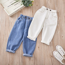 Load image into Gallery viewer, Girls Jeans for Kids spring autumn Trousers Children Jeans Kids Fashion Denim Pants Baby Boys Jean Infant Clothing toddler white - shopbabyitems
