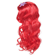 Load image into Gallery viewer, Girls Little Mermaid Red Wig Princess Kids Elsa Anna Aurora Cosplay tangled Braid Jasmine Moana Unicorn Hair For Party - shopbabyitems