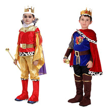 Load image into Gallery viewer, Halloween Cosplay kids Prince Costume for Children The King Costumes Christmas Boys Fantasia European royalty clothing - shopbabyitems