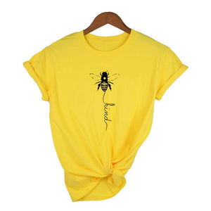 Honeybee Women T-shirt Let it Bee Graphic Short Sleeve Shirts - shopbabyitems