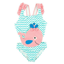 Load image into Gallery viewer, Summer Baby Girl Swimsuit Fused Polyester Spandex Cute Animal Kids Swimwear Baby Bikini Girl 1T-8T swimwear child - shopbabyitems