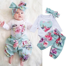 Load image into Gallery viewer, Baby Girl Clothes Set Toddler Cotton Suit Kids Girl Outfits Spring Tracksuit Infant Clothing Set - shopbabyitems