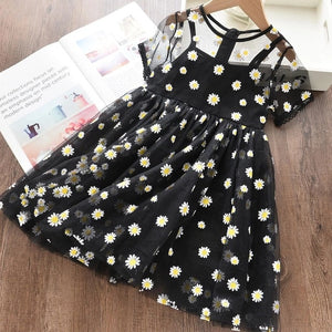 Summer Girl Dresses Soild Dresses Princess Girls Clothes Party Children Clothing Toddler Baby Kids Dresses - shopbabyitems