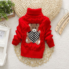 Load image into Gallery viewer, Kids Girl Sweater Tricots Turtleneck Pullover Baby Winter Tops Solid Color Sweaters Autumn Boy Girl Warm Sweater Pull - shopbabyitems