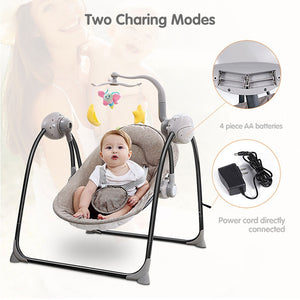 Baby Swing Baby Rocking Chair Electric Baby Cradle With Remote Control Cradle Rocking Chair For Newborns Swing Chair - shopbabyitems