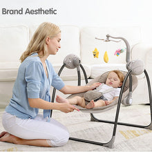 Load image into Gallery viewer, Baby Swing Baby Rocking Chair Electric Baby Cradle With Remote Control Cradle Rocking Chair For Newborns Swing Chair - shopbabyitems