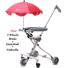 Load image into Gallery viewer, Baby Stroller Ride on Bike ultra-lightweight folding 3-5Y Children Trolley  High Landscape Umbrella Baby Trolley - shopbabyitems