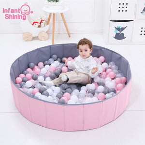 Ball Pits Foldable Ball Pool Diameter 120CM/47IN Ocean Ball Playpen Toy Washable Folding Fence Kids Birthday Gift - shopbabyitems