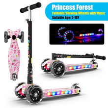 Load image into Gallery viewer, Infant Shining Kid Scooter 2-16Y Height Adjustable Foldable Children Balance Bike Light Flash Baby Ride on Toy Gift for Boy Girl - shopbabyitems