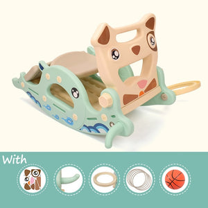 Slides for Kids Rocking Horse 4 in 1 Baby Toys Children's Slides Ride Horse Toy Multifunction Birthday Gift - shopbabyitems