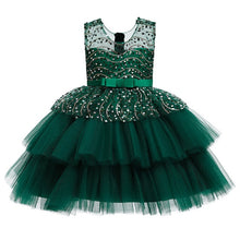Load image into Gallery viewer, Ins Performance Host Christmas Dresses 2020 New Girls Mesh Sequin Dress Little Girl Sleeveless Cute Fairy Puffy Princess Dresses - shopbabyitems